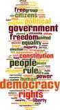 Nuvem da palavra da democracia ilustração stock