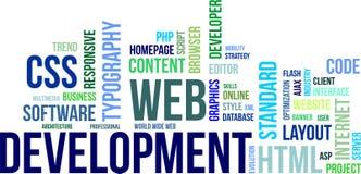 Nuvem da palavra - desenvolvimento da Web Foto de Stock Royalty Free