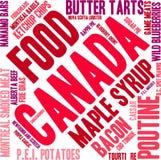 Nuvem da palavra do alimento de Canadá ilustração do vetor