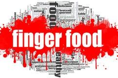 Nuvem da palavra do alimento de dedo Imagem de Stock