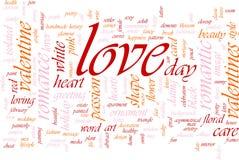 Nuvem da palavra do amor Imagem de Stock Royalty Free