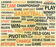 Nuvem da palavra do basquetebol do Grunge Imagem de Stock Royalty Free