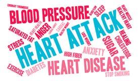 Nuvem da palavra do cardíaco de ataque Foto de Stock Royalty Free