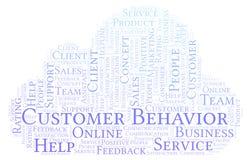Nuvem da palavra do comportamento do cliente ilustração do vetor