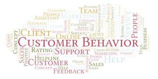 Nuvem da palavra do comportamento do cliente ilustração royalty free