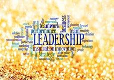 Nuvem da palavra do conceito da liderança Fotografia de Stock Royalty Free