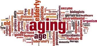 Nuvem da palavra do envelhecimento ilustração royalty free