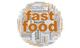 Nuvem da palavra do fast food Fotografia de Stock