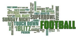 Nuvem da palavra do futebol Foto de Stock Royalty Free