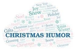 Nuvem da palavra do humor do Natal ilustração royalty free