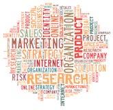 Nuvem da palavra do mercado Imagens de Stock