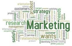 Nuvem da palavra do mercado Imagem de Stock
