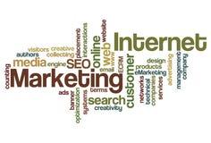 Nuvem da palavra do mercado do Internet Fotos de Stock