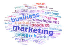Nuvem da palavra do mercado do negócio que anuncia o conceito Imagens de Stock Royalty Free