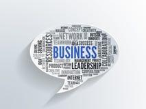 Nuvem da palavra do negócio em uma bolha do discurso do papel 3d foto de stock