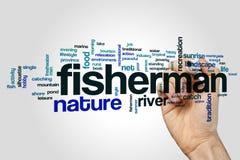Nuvem da palavra do pescador Imagem de Stock Royalty Free