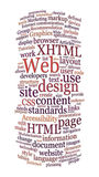 Nuvem da palavra do projeto de Web do Web site Fotografia de Stock