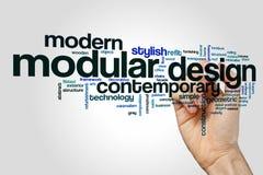 Nuvem da palavra do projeto modular foto de stock