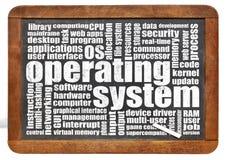 Nuvem da palavra do sistema operacional Imagens de Stock Royalty Free
