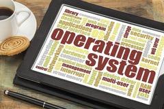 Nuvem da palavra do sistema operacional Fotos de Stock