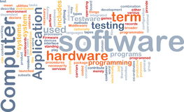 Nuvem da palavra do software Foto de Stock