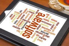 Nuvem da palavra do software Imagem de Stock