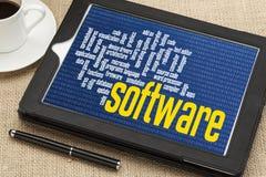 Nuvem da palavra do software informático Foto de Stock