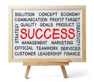 Nuvem da palavra do sucesso Imagens de Stock Royalty Free