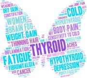 Nuvem da palavra do tiroide ilustração do vetor