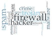 Nuvem da palavra do vírus Imagem de Stock Royalty Free