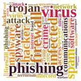 Nuvem da palavra do vírus do guarda-fogo Fotografia de Stock Royalty Free