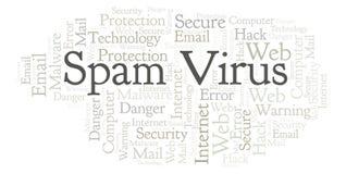 Nuvem da palavra do vírus do Spam ilustração do vetor
