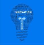 Nuvem da palavra do vetor da ampola da inovação Imagens de Stock