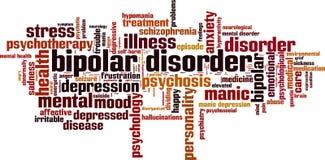 Nuvem da palavra da doença bipolar ilustração royalty free