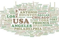 Nuvem da palavra dos EUA ilustração royalty free