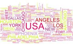 Nuvem da palavra dos EUA ilustração stock