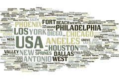 Nuvem da palavra dos EUA ilustração do vetor