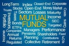 Nuvem da palavra dos fundos de investimento aberto Imagem de Stock Royalty Free