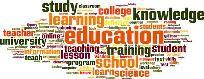 Nuvem da palavra da educação ilustração do vetor