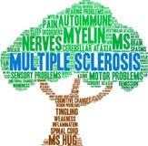 Nuvem da palavra da esclerose múltipla ilustração royalty free