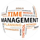Nuvem da palavra - gestão de tempo Fotografia de Stock Royalty Free