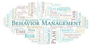 Nuvem da palavra da gestão do comportamento, feita com texto somente ilustração do vetor