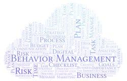 Nuvem da palavra da gestão do comportamento, feita com texto somente ilustração royalty free