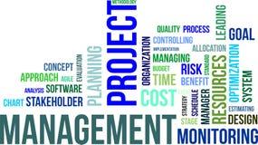 Nuvem da palavra - gestão do projeto imagens de stock royalty free