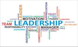Nuvem da palavra - liderança imagens de stock