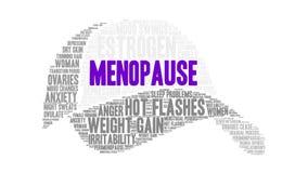 Nuvem da palavra da menopausa ilustração do vetor