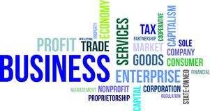Nuvem da palavra - negócio Imagem de Stock