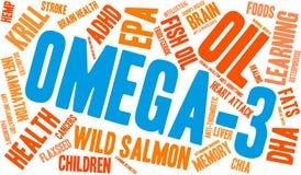 Nuvem da palavra Omega-3 ilustração do vetor