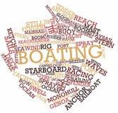 Nuvem da palavra para o desporto de barco ilustração stock