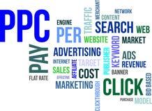 Nuvem da palavra - ppc Imagem de Stock